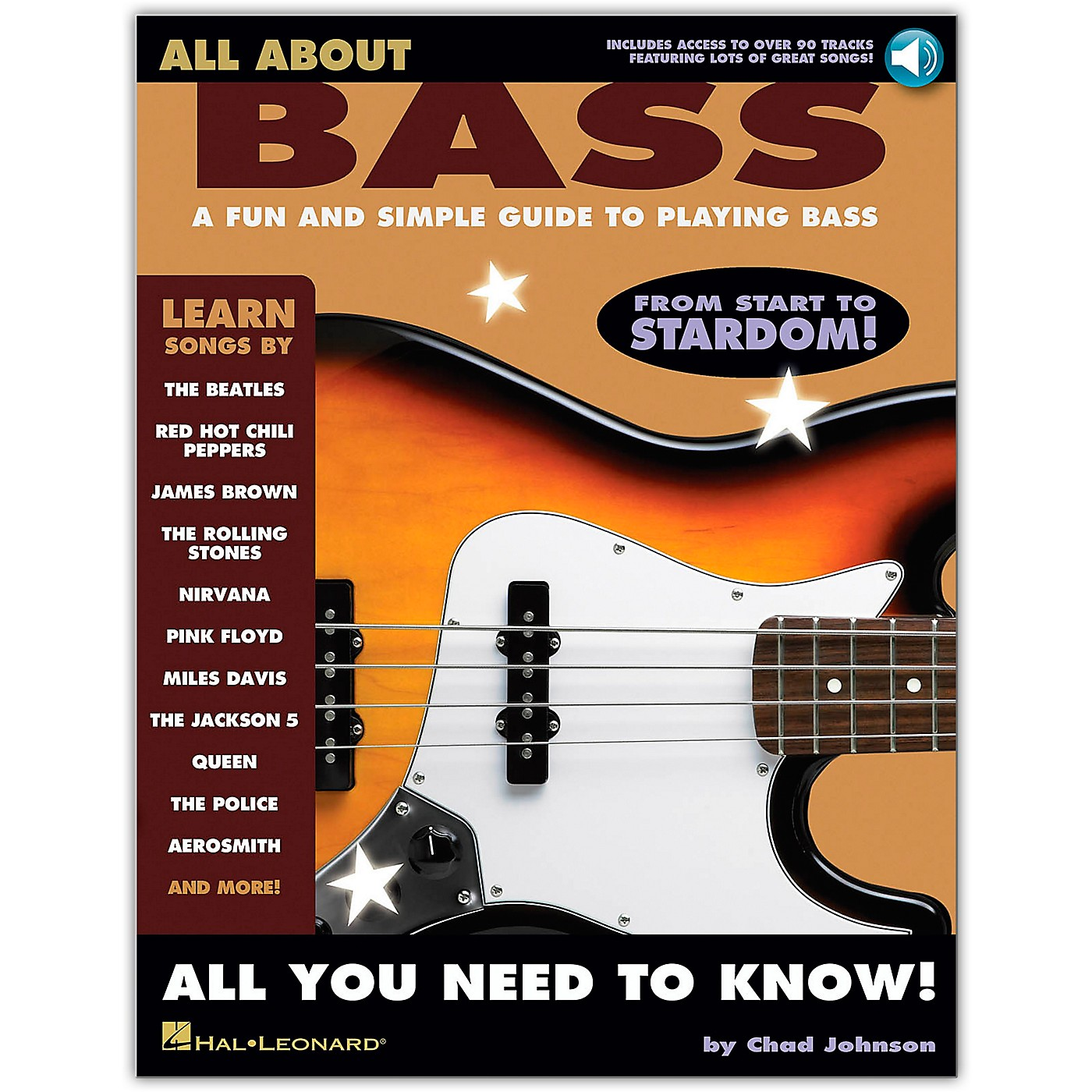Hal Leonard All About Bass (Fun & Simple Guide To Playing Bass From Start To Stardom) (Book/Online Audio) thumbnail
