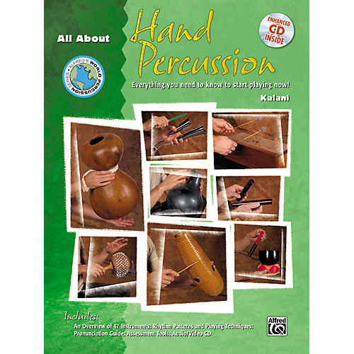 Alfred All About Hand Percussion (Book/CD)-thumbnail