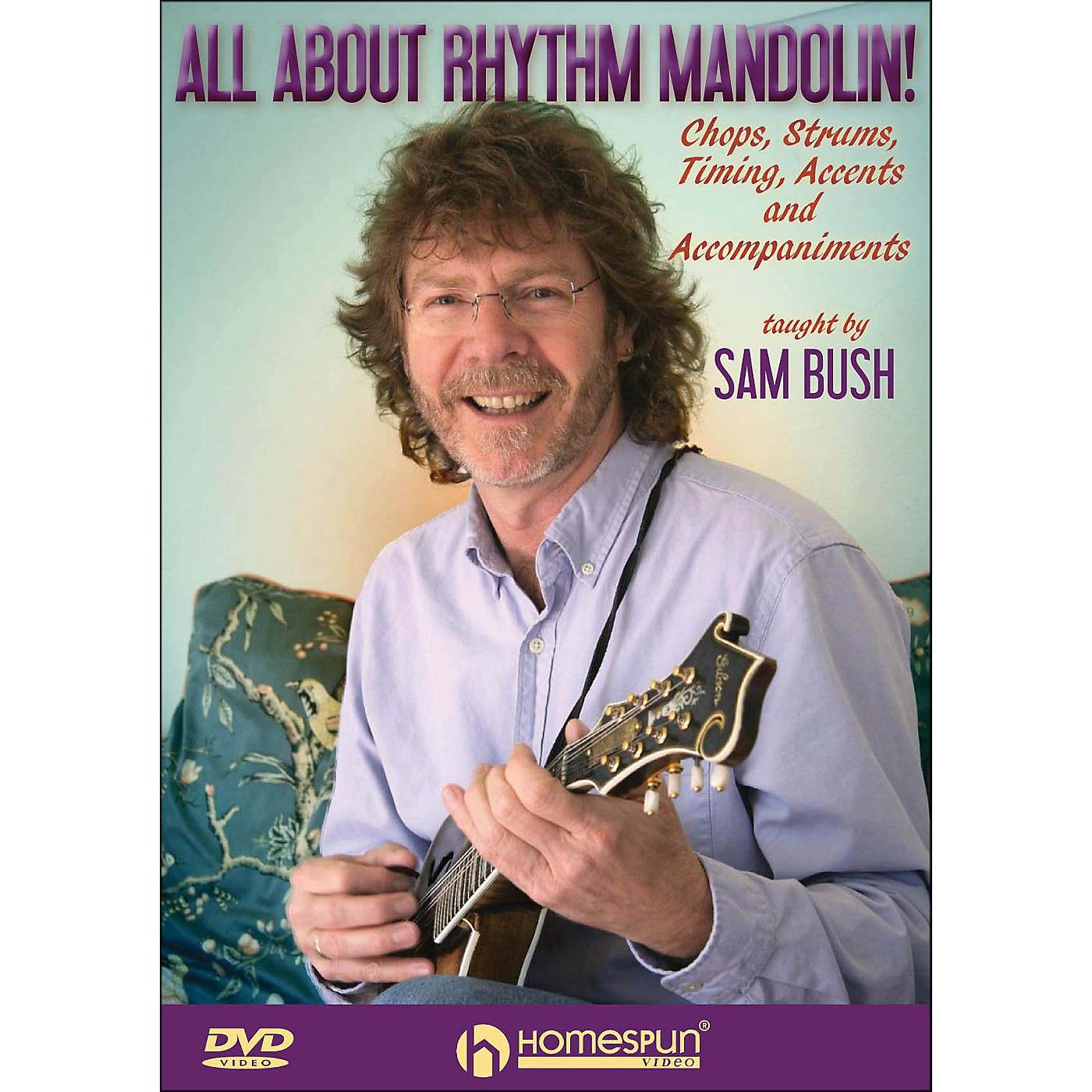 Homespun All About Rhythm Mandolin Chops Strums Timing Accents And Accompaniments DVD thumbnail