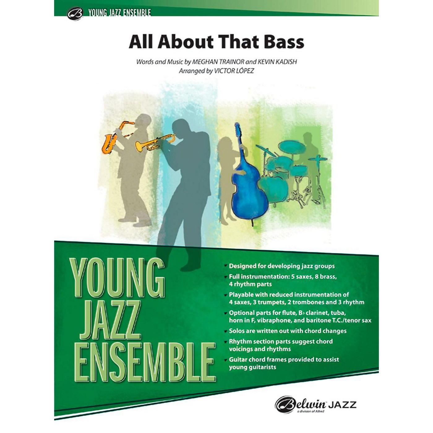 Alfred All About That Bass Jazz Band Grade 2 thumbnail