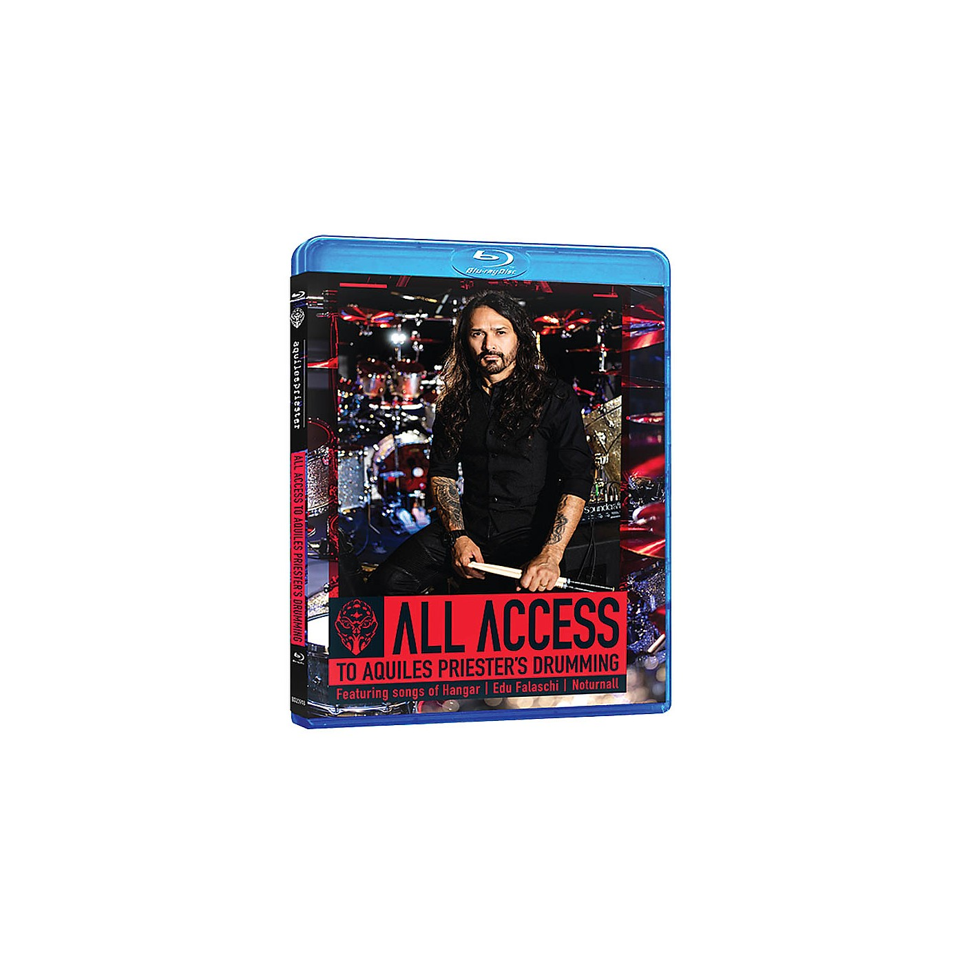 Hudson Music All Access to Aquiles Priester's Drumming Featuring Songs of Hangar, Edu Falaschi, Noturnall Blu-Ray thumbnail