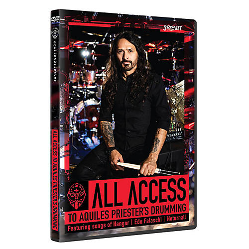 Hudson Music All Access to Aquiles Priester's Drumming Featuring Songs of Hangar, Edu Falaschi, Noturnall DVD thumbnail