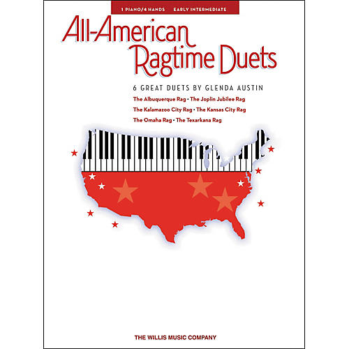 Willis Music All-American Ragtime Duets Early Intermediate 1 Piano 4 Hands by Glenda Austin thumbnail