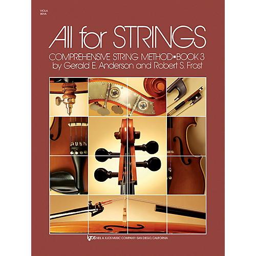 KJOS All For Strings 3 Viola thumbnail