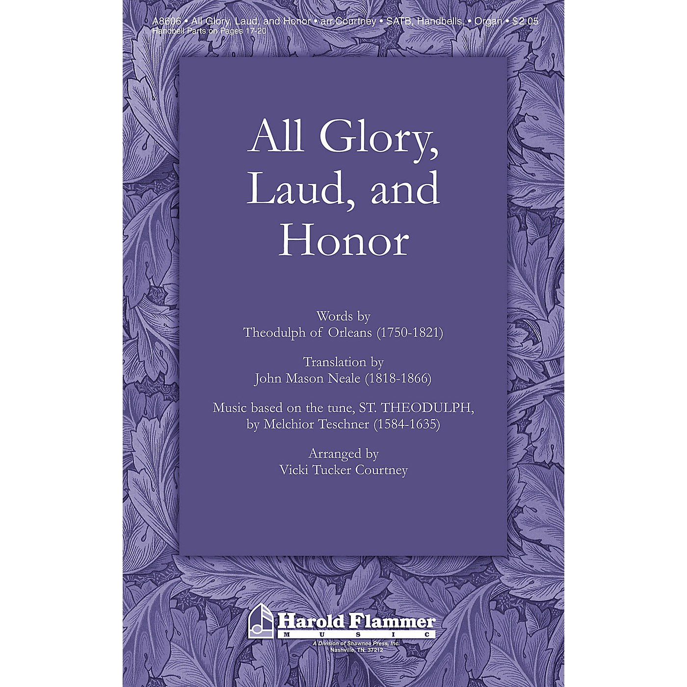 Shawnee Press All Glory Laud and Honor SATB Arranged by Vicki Tucker Courtney thumbnail
