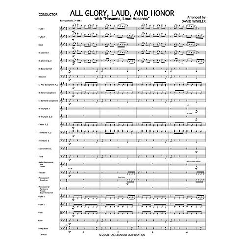 PraiseSong All Glory, Laud, and Honor (with Hosanna, Loud Hosanna) Orchestra arranged by David Winkler thumbnail