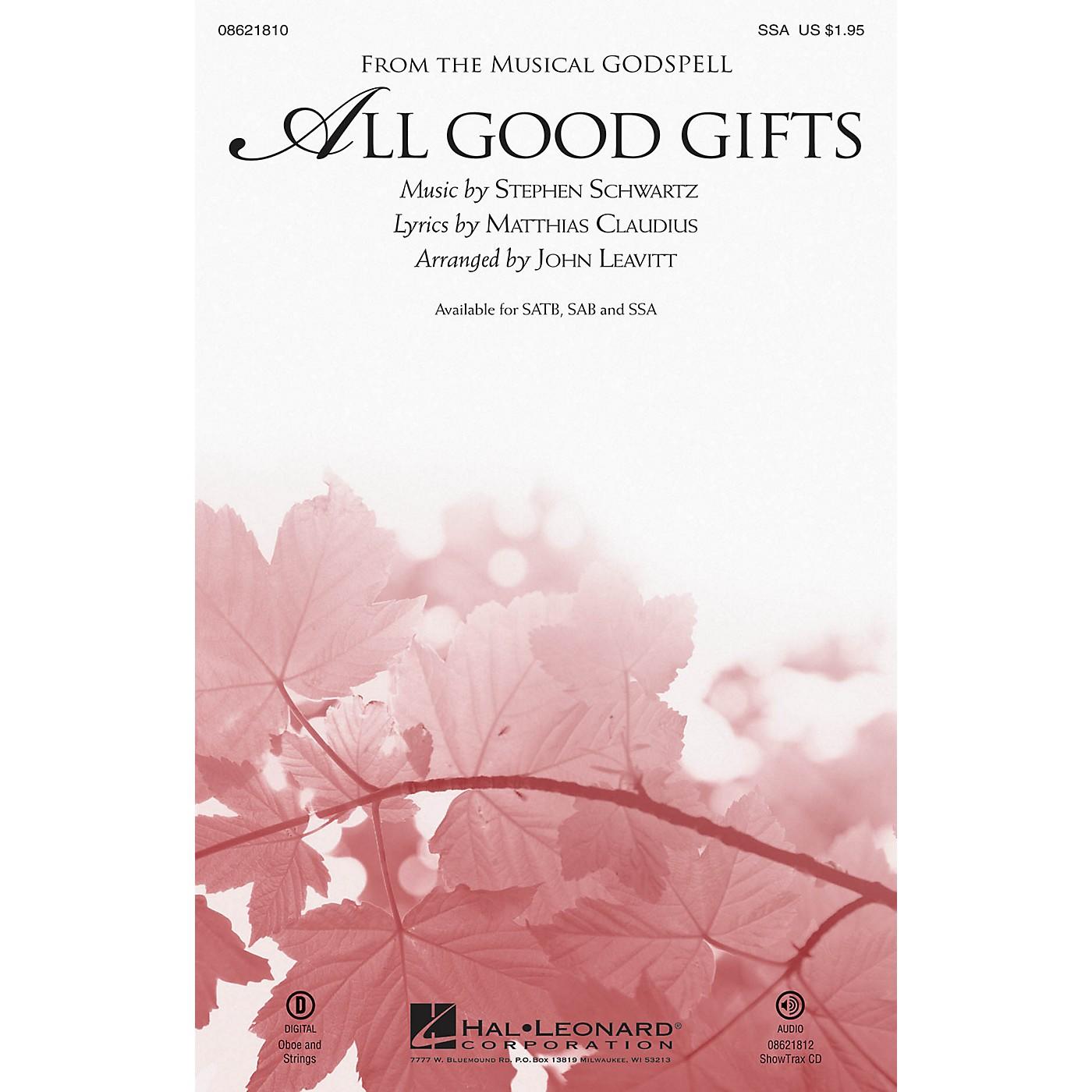 Hal Leonard All Good Gifts (from Godspell) SSA arranged by John Leavitt thumbnail
