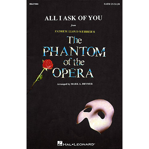 Hal Leonard All I Ask of You (SATB) SATB by Barbra Streisand arranged by Mark Brymer thumbnail