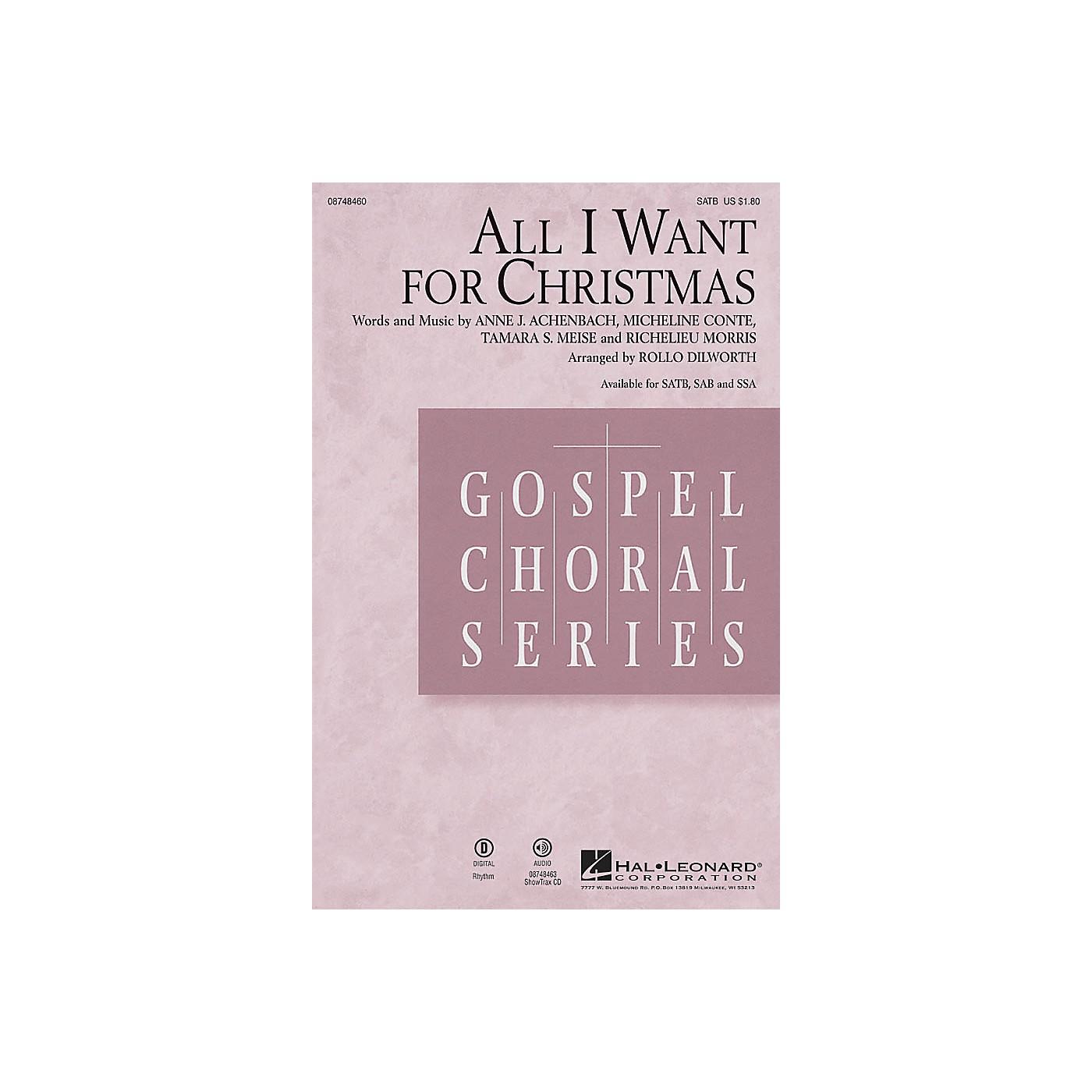 Hal Leonard All I Want for Christmas SAB Arranged by Rollo Dilworth thumbnail