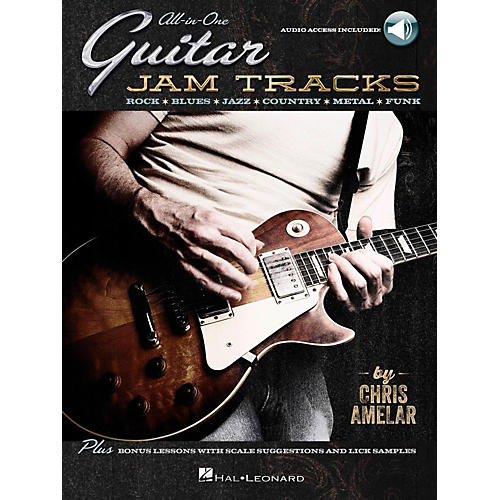 Hal Leonard All-In-One Guitar Jam Tracks - Book with Online Audio Tracks thumbnail