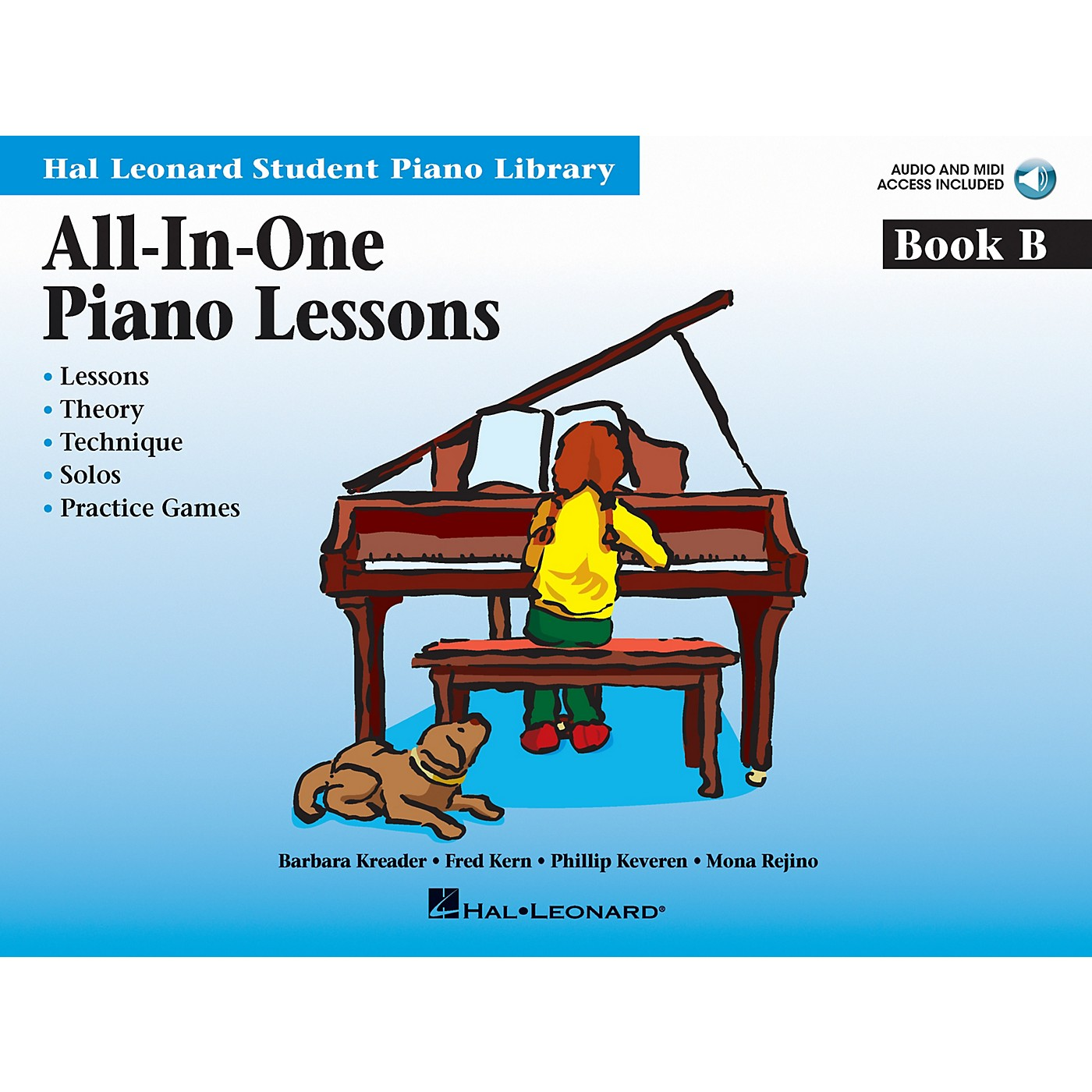 Hal Leonard All-In-One Piano Lessons Book B Educational Piano  International Edition Series Softcover Audio Online thumbnail