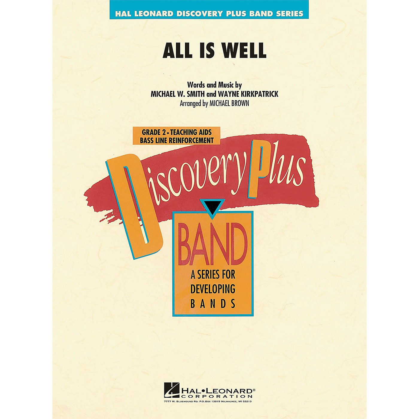 Hal Leonard All Is Well - Discovery Plus Concert Band Series Level 2 arranged by Michael Brown thumbnail