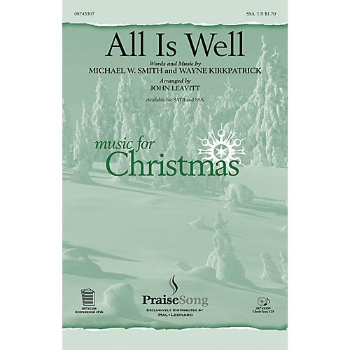 PraiseSong All Is Well SSA arranged by John Leavitt thumbnail