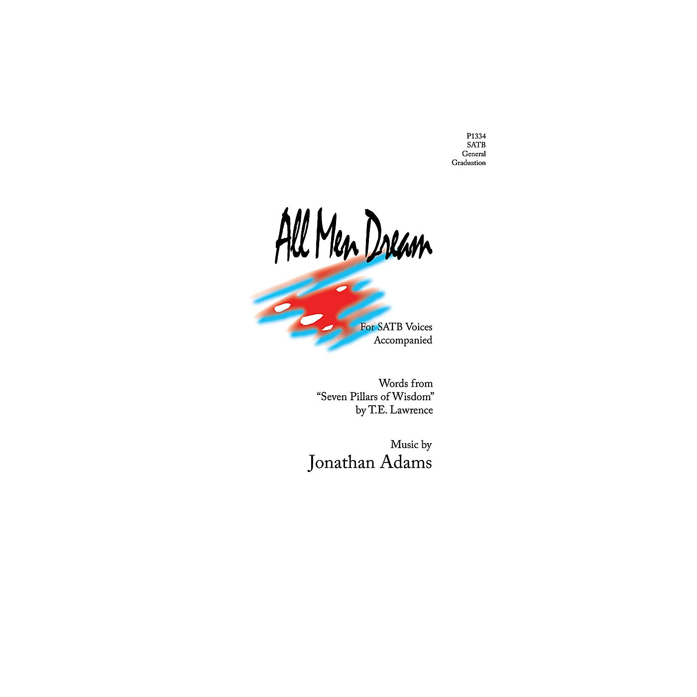 Pavane All Men Dream SATB composed by Jonathan Adams thumbnail