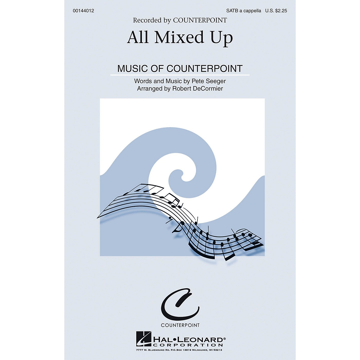 Hal Leonard All Mixed Up SATB by Pete Seeger arranged by Robert DeCormier thumbnail
