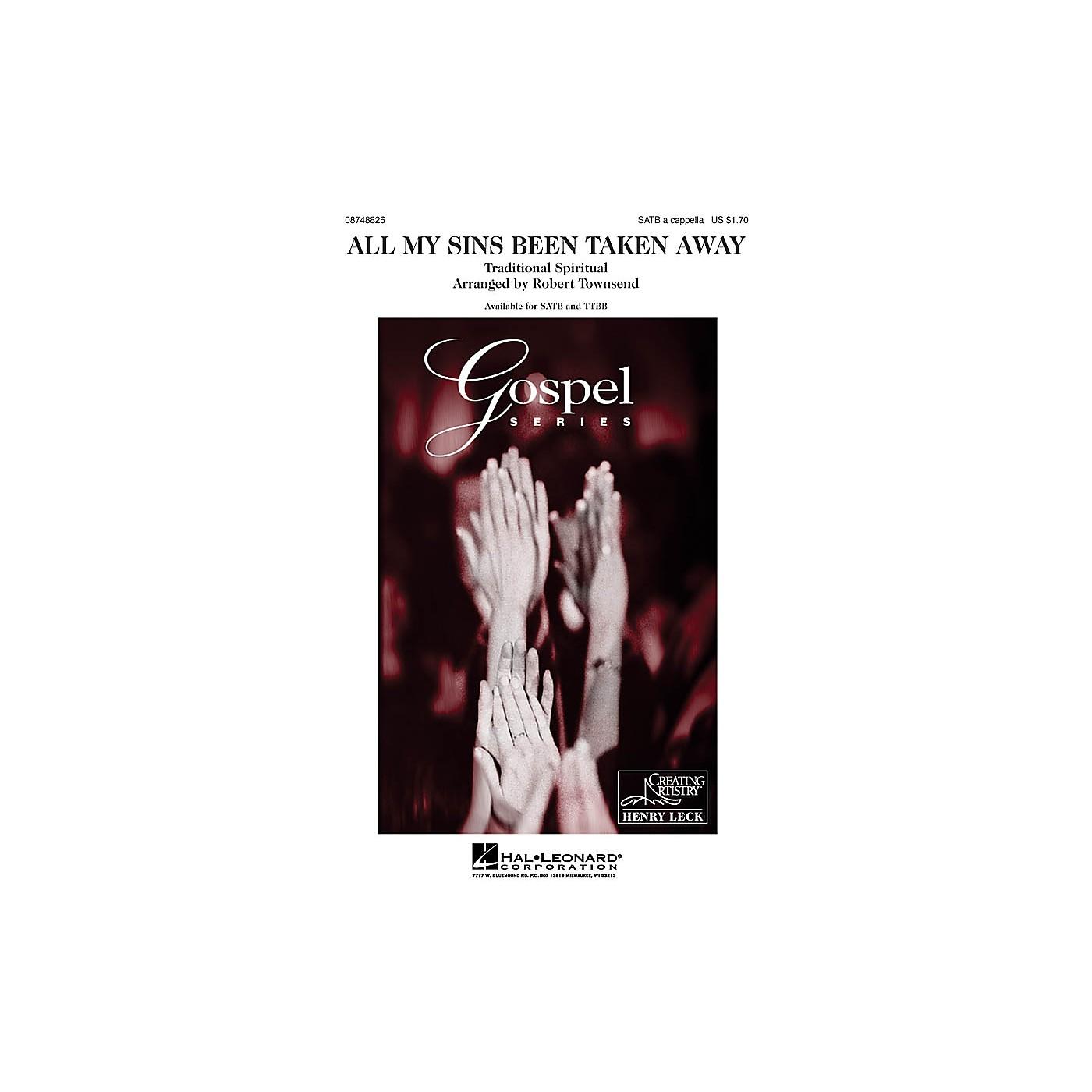 Hal Leonard All My Sins Been Taken Away TTBB A Cappella Arranged by Robert Townsend thumbnail