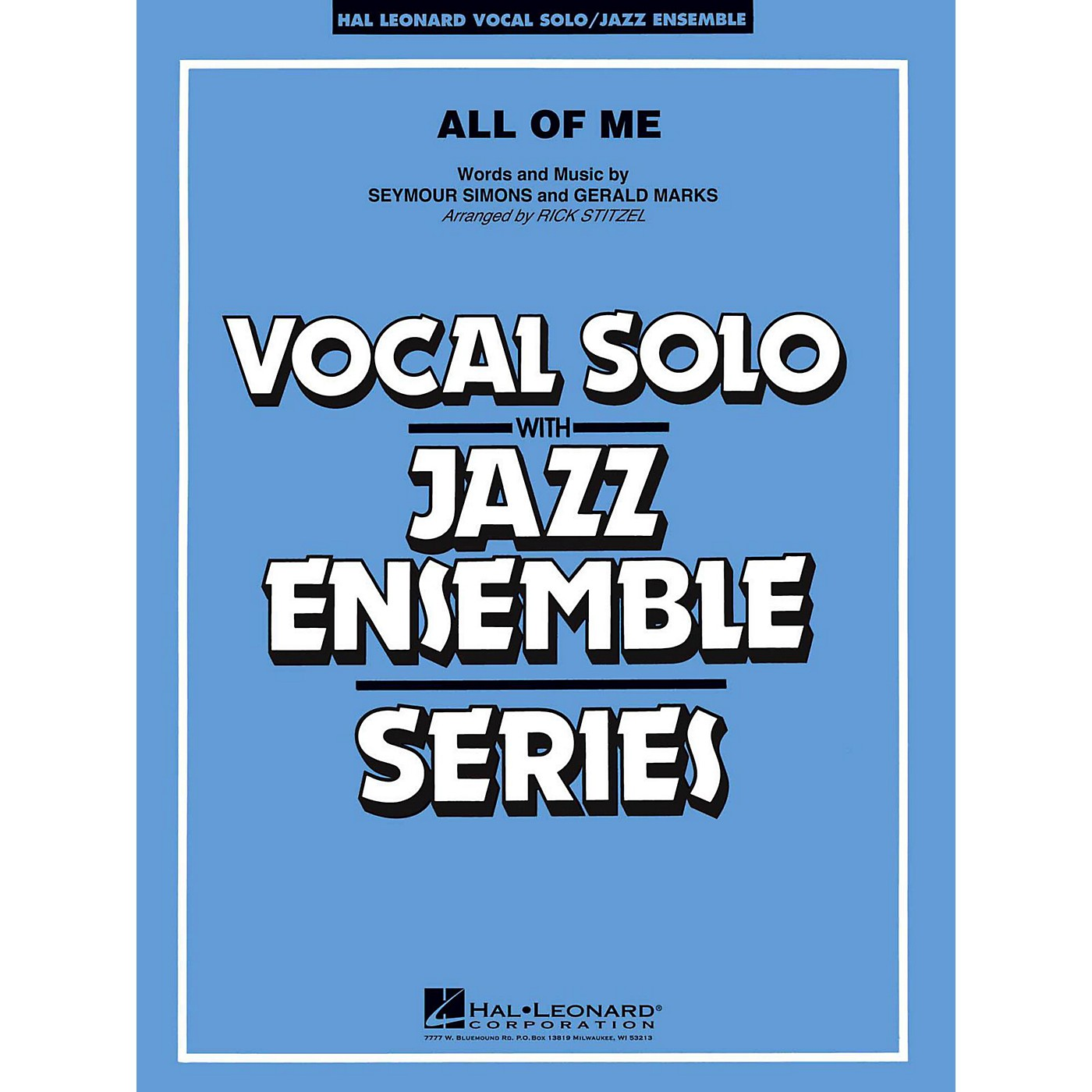 Hal Leonard All Of Me Vocal Solo Jazz Band Level 3 - 4 thumbnail