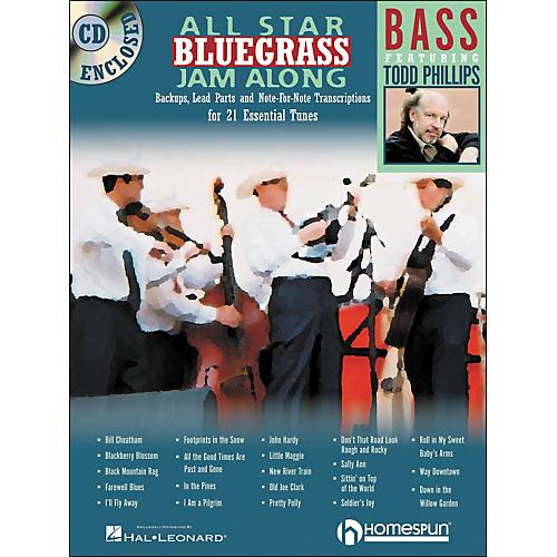 Homespun All Star Bluegrass Jam-Along for Bass Book/CD-thumbnail