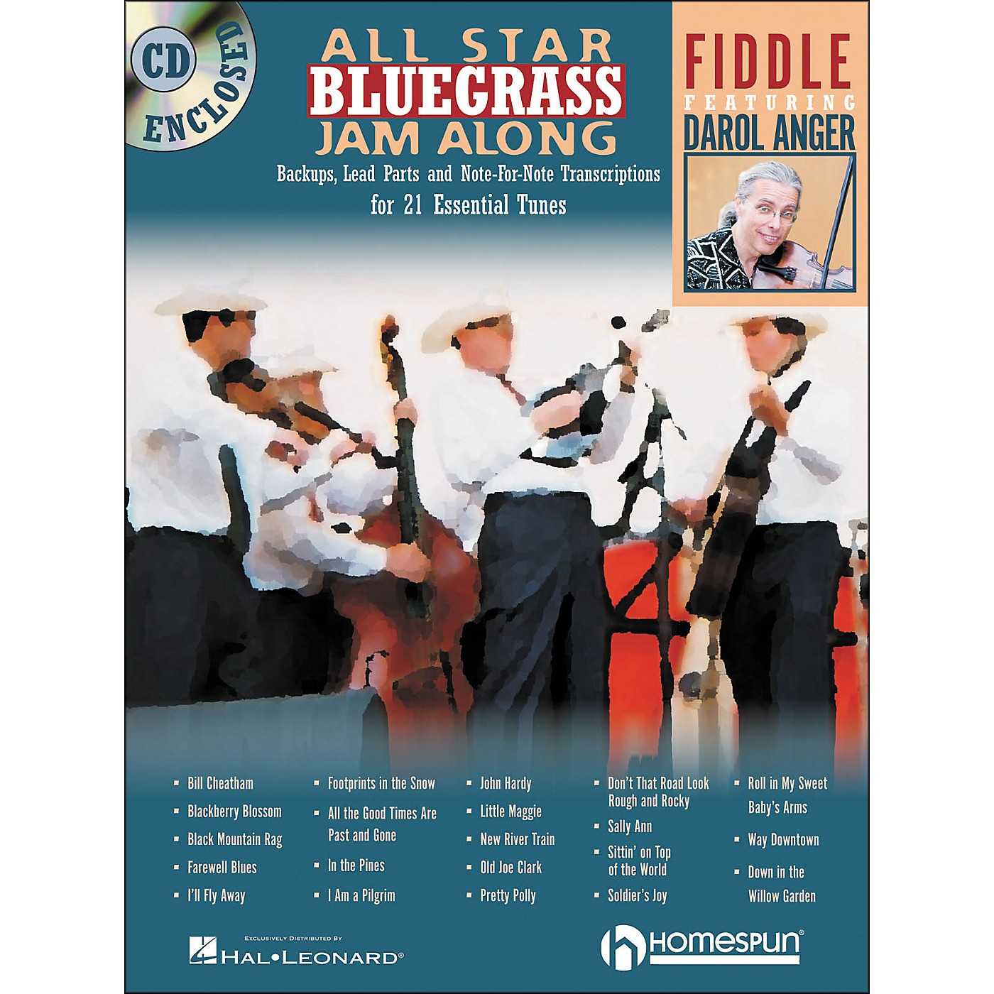 Homespun All Star Bluegrass Jam-Along for Fiddle Book/CD thumbnail