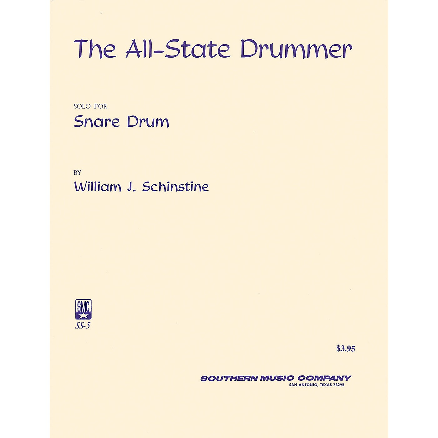 Southern All State Drummer (Percussion Music/Snare Drum Unaccompanied) Southern Music Series by Bournonville thumbnail