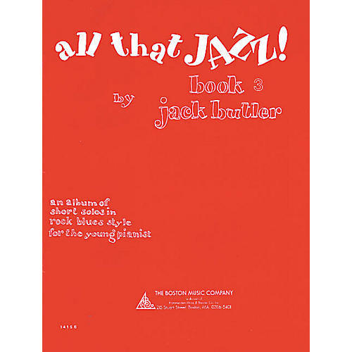 Music Sales All That Jazz! Book 3 Music Sales America Series Softcover Written by Jack Butler thumbnail