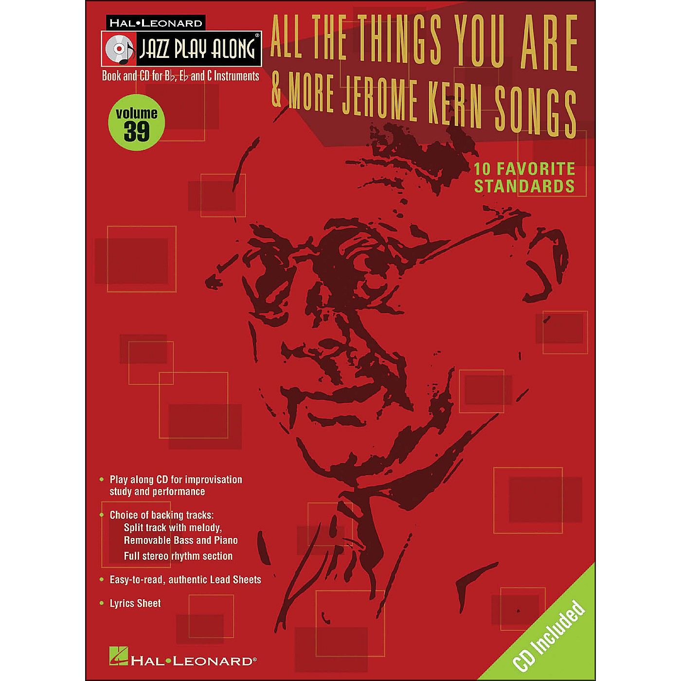 Hal Leonard All The Things You Are & More Jerome Kern Songs Jazz Play-Along Volume 39 Book/CD thumbnail