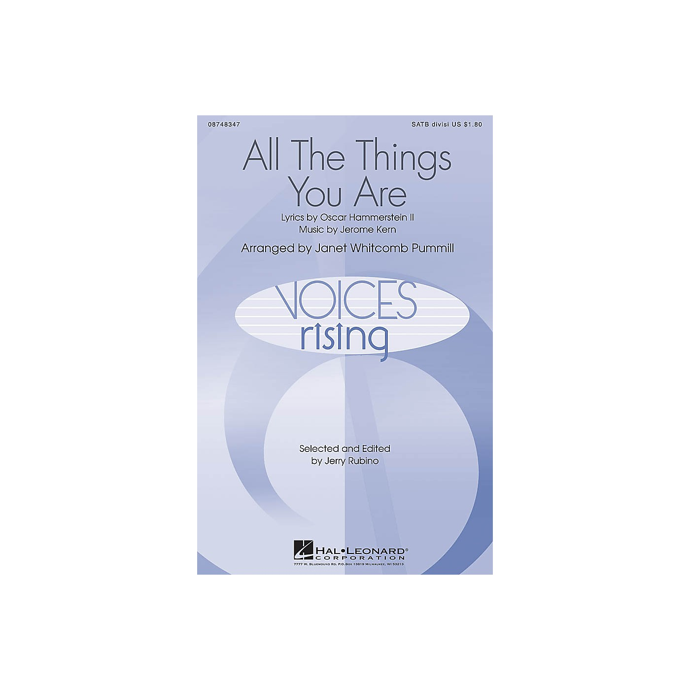 Hal Leonard All The Things You Are SATB Divisi arranged by Janet Whitcomb Pummill thumbnail
