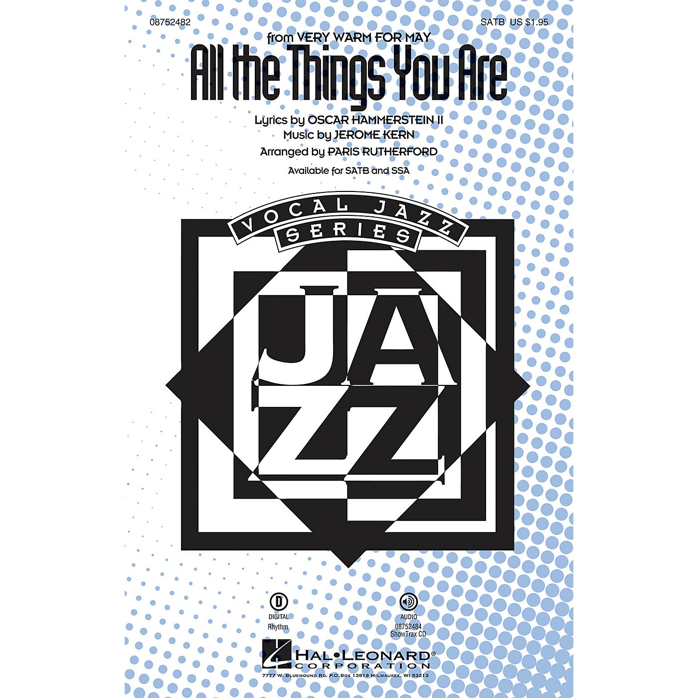 Hal Leonard All The Things You Are SSA Arranged by Paris Rutherford thumbnail