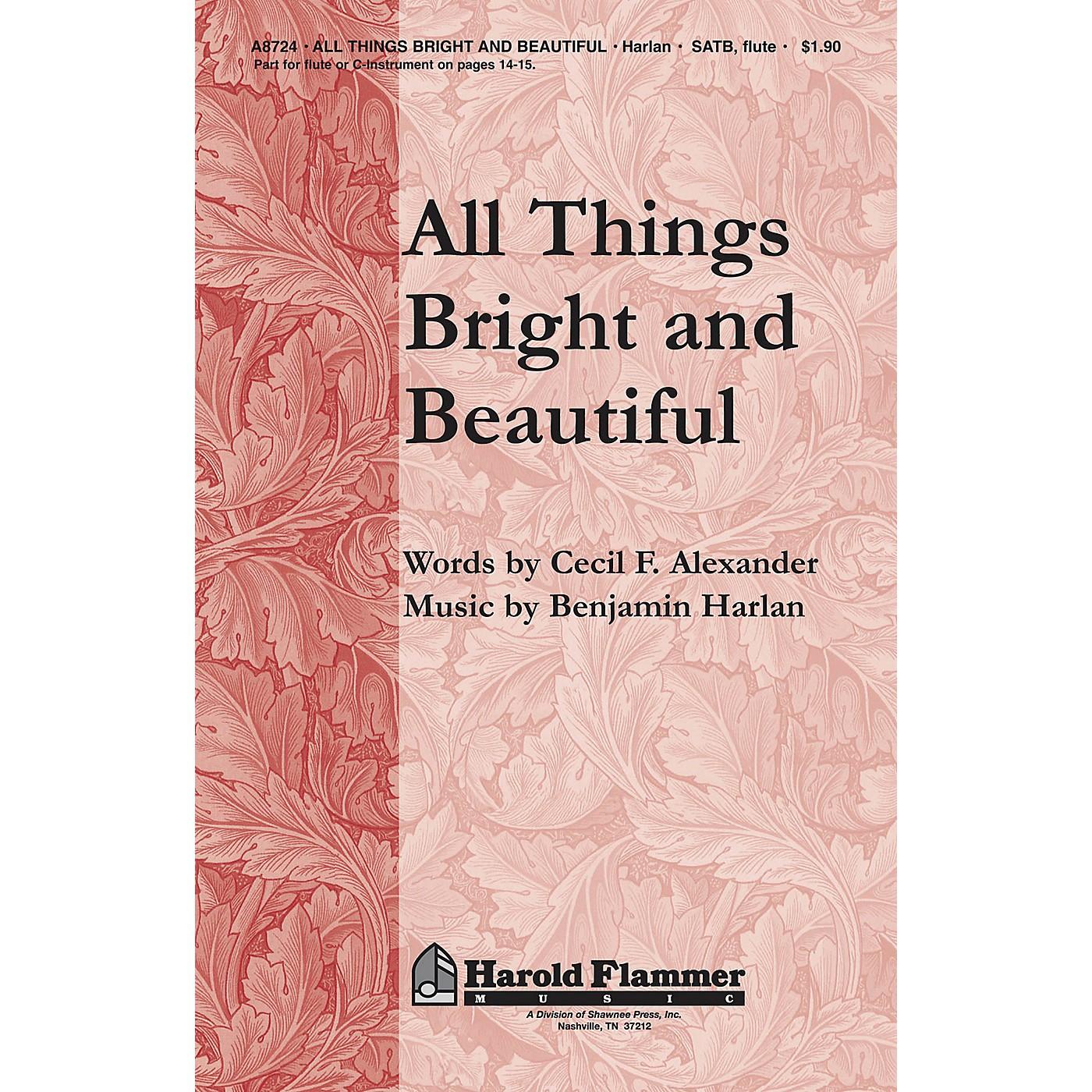 Shawnee Press All Things Bright and Beautiful SATB composed by Benjamin Harlan thumbnail