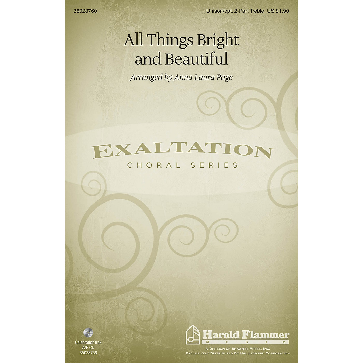 Shawnee Press All Things Bright and Beautiful Unison/2-Part Treble arranged by Anna Laura Page thumbnail
