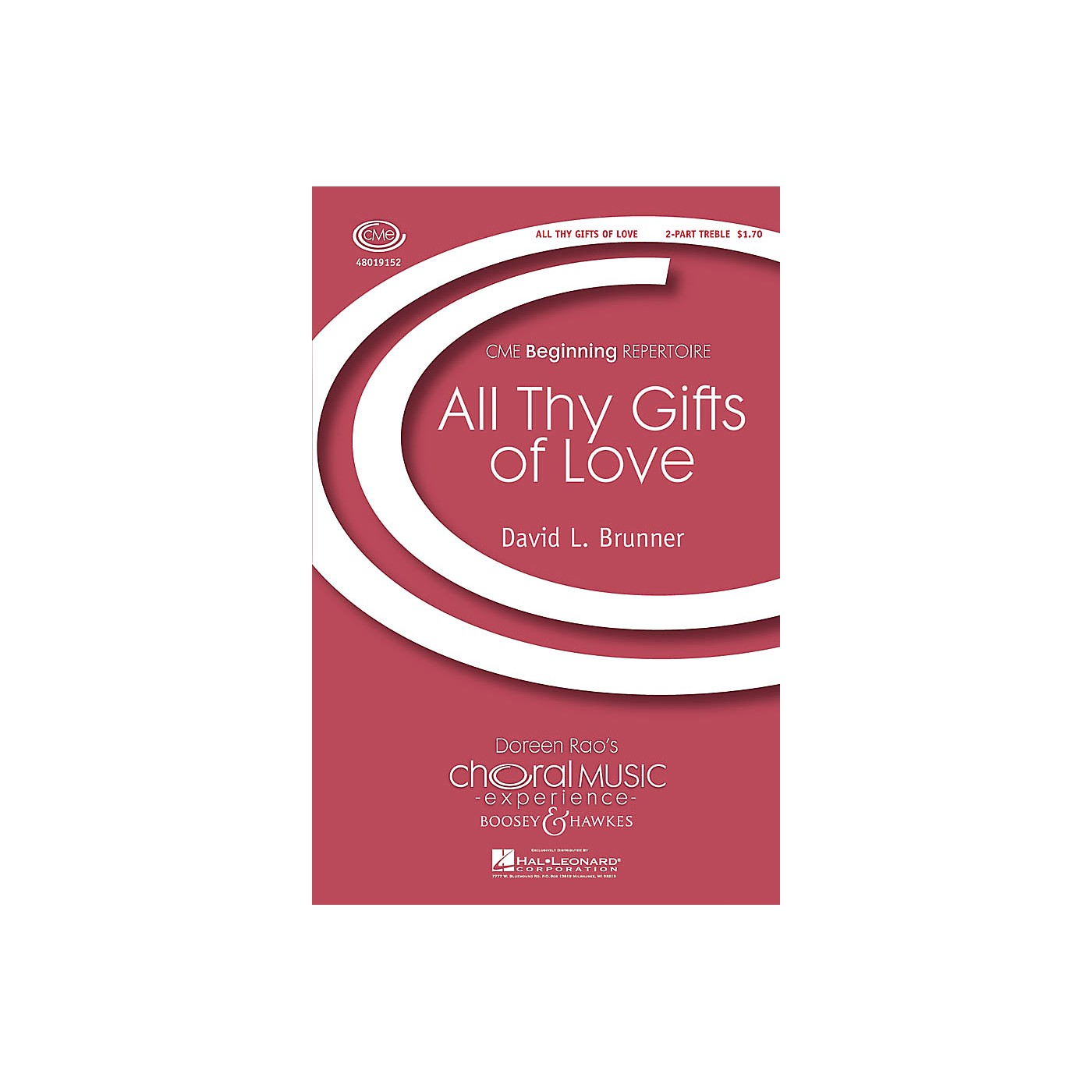 Boosey and Hawkes All Thy Gifts of Love (CME Beginning) 2-Part composed by David Brunner thumbnail