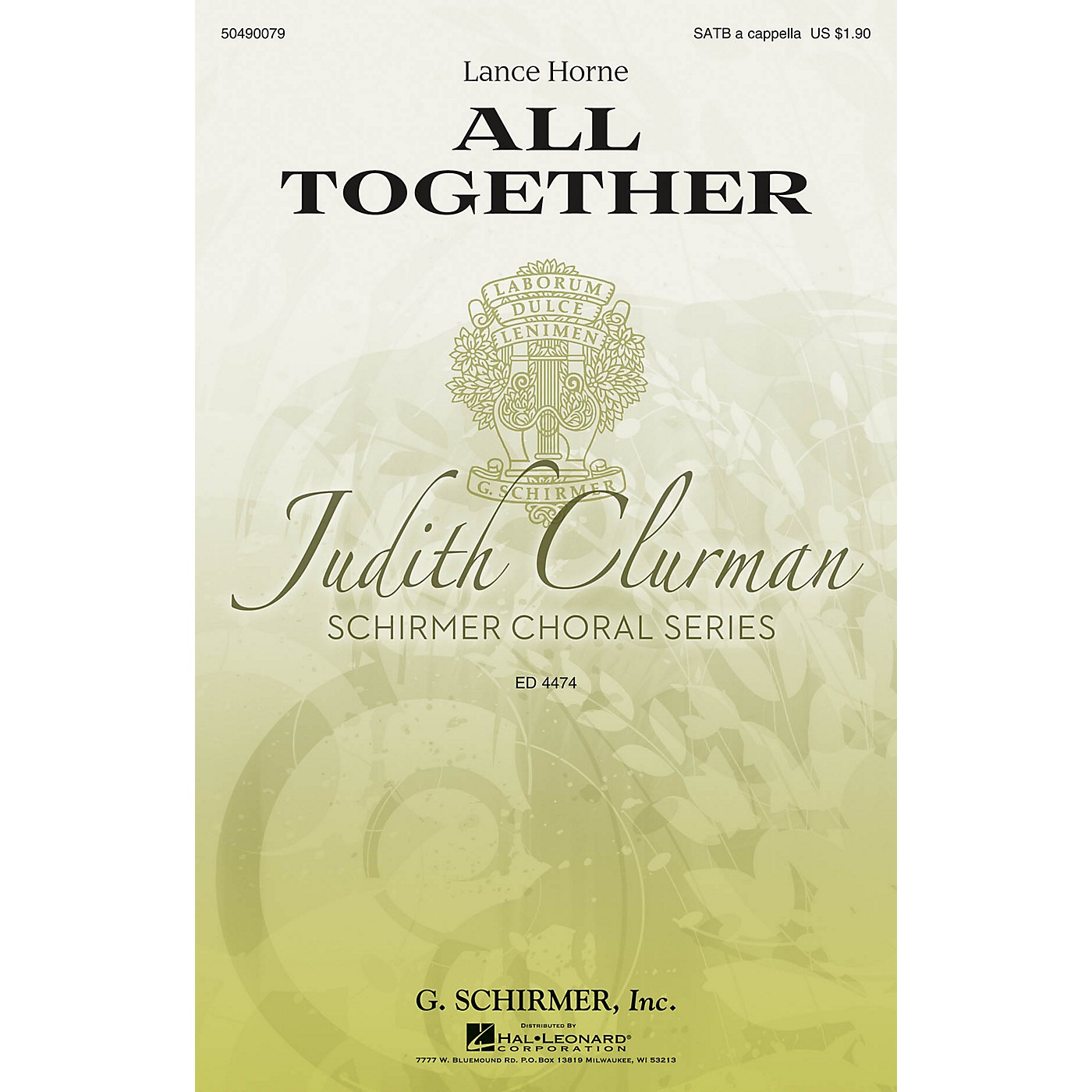 G. Schirmer All Together (Judith Clurman Choral Series) SATB a cappella composed by Lance Horne thumbnail