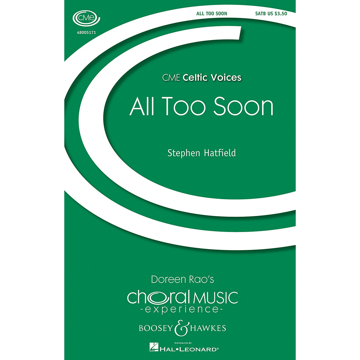 Boosey and Hawkes All Too Soon (- Traditional Celtic Tunes CME Celtic Voices) SATB arranged by Stephen Hatfield thumbnail