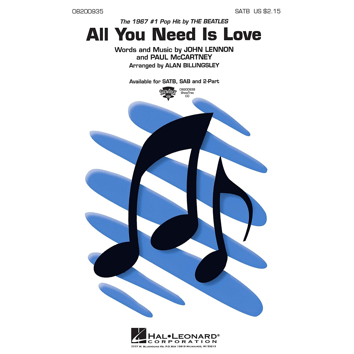 Hal Leonard All You Need Is Love ShowTrax CD by The Beatles Arranged by Alan Billingsley thumbnail