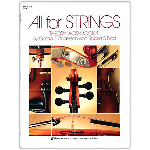 KJOS All for Strings Theory Workbook 1-String Bass thumbnail