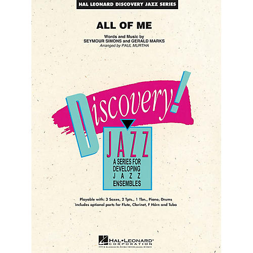 Hal Leonard All of Me Jazz Band Level 1.5 Arranged by Paul Murtha thumbnail