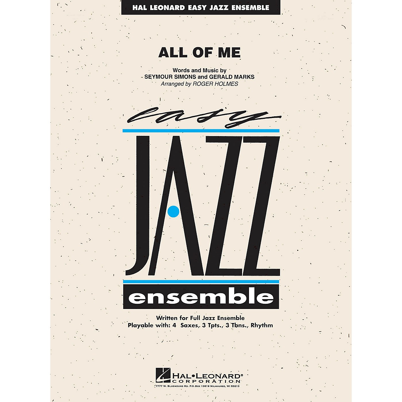 Hal Leonard All of Me Jazz Band Level 2 Arranged by R Holmes thumbnail