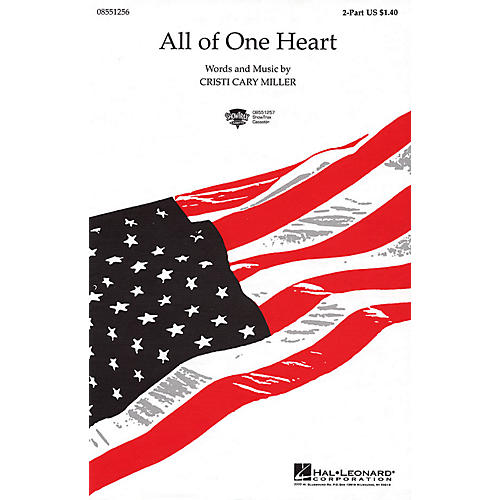 Hal Leonard All of One Heart 2-Part composed by Cristi Cary Miller thumbnail