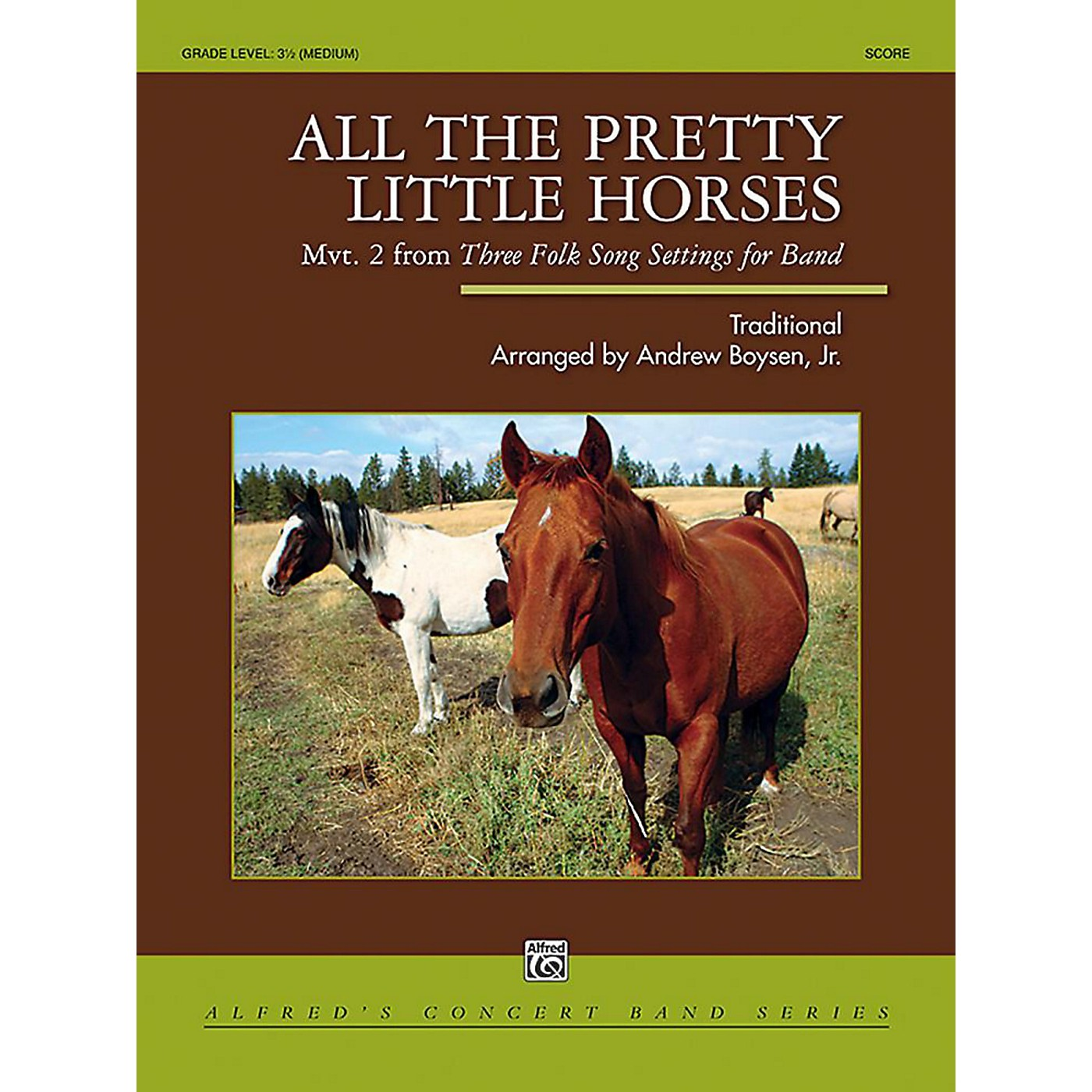 Alfred All the Pretty Little Horses Concert Band Grade 3.5 Set thumbnail