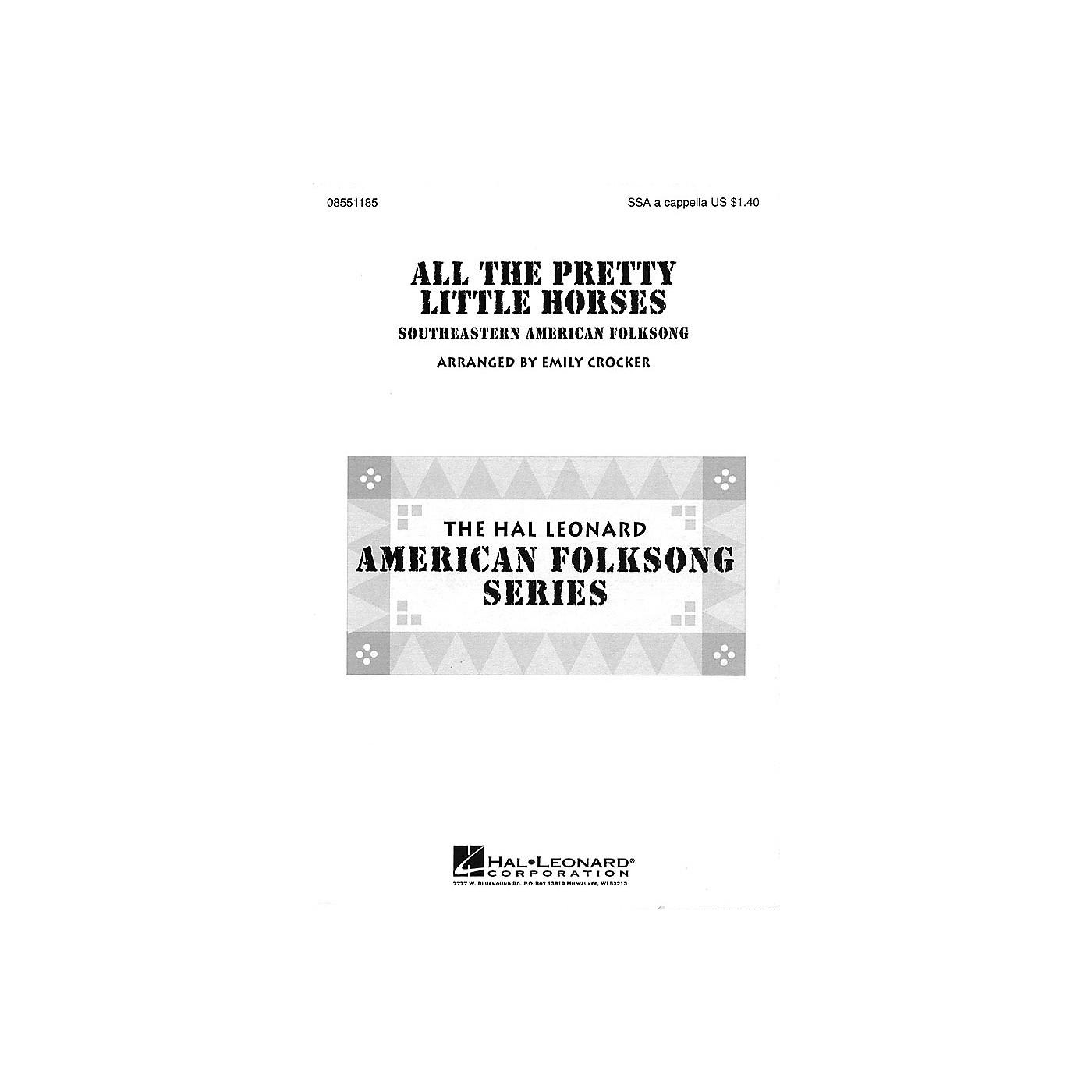Hal Leonard All the Pretty Little Horses SSA A Cappella arranged by Emily Crocker thumbnail