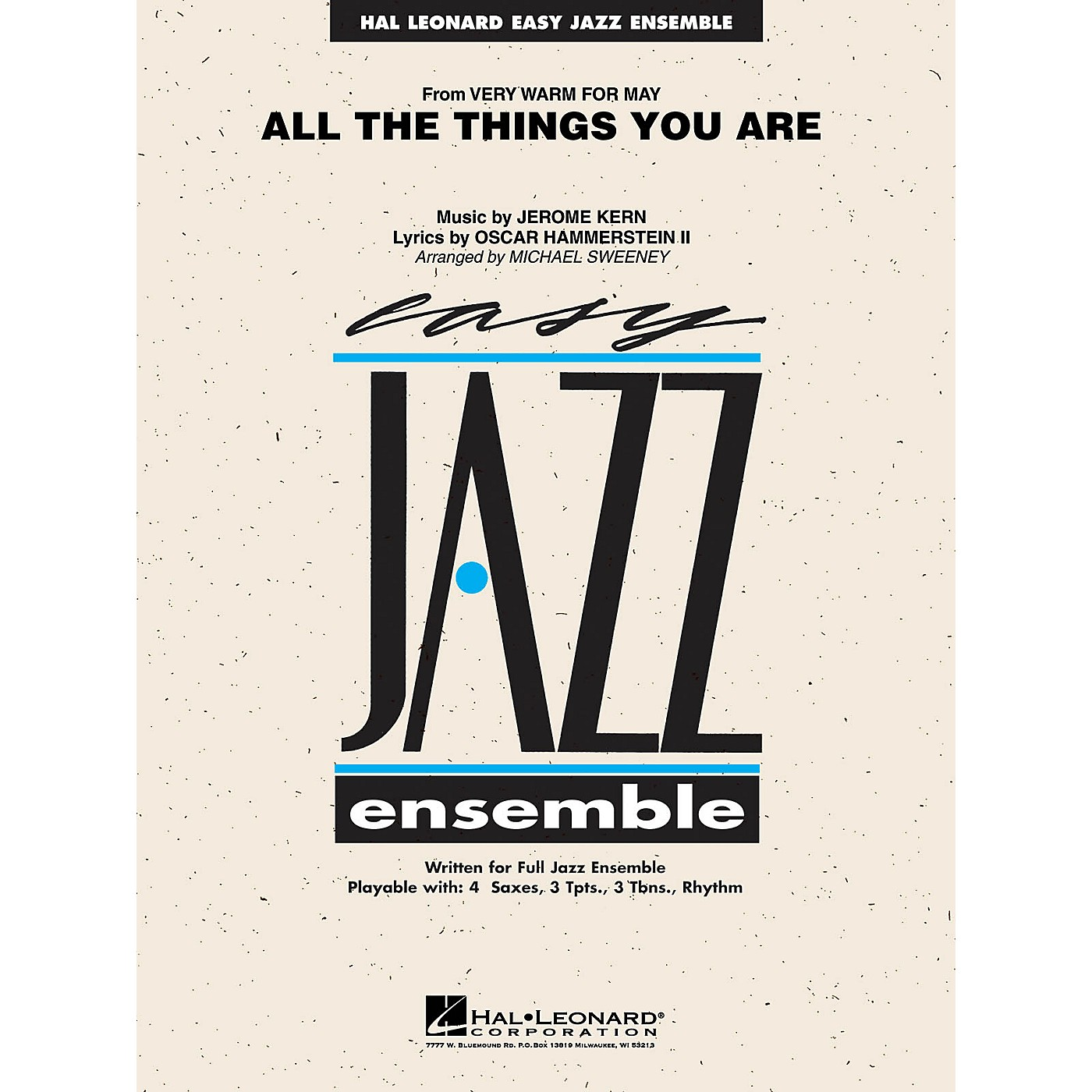 Hal Leonard All the Things You Are Jazz Band Level 2 Arranged by Michael Sweeney thumbnail
