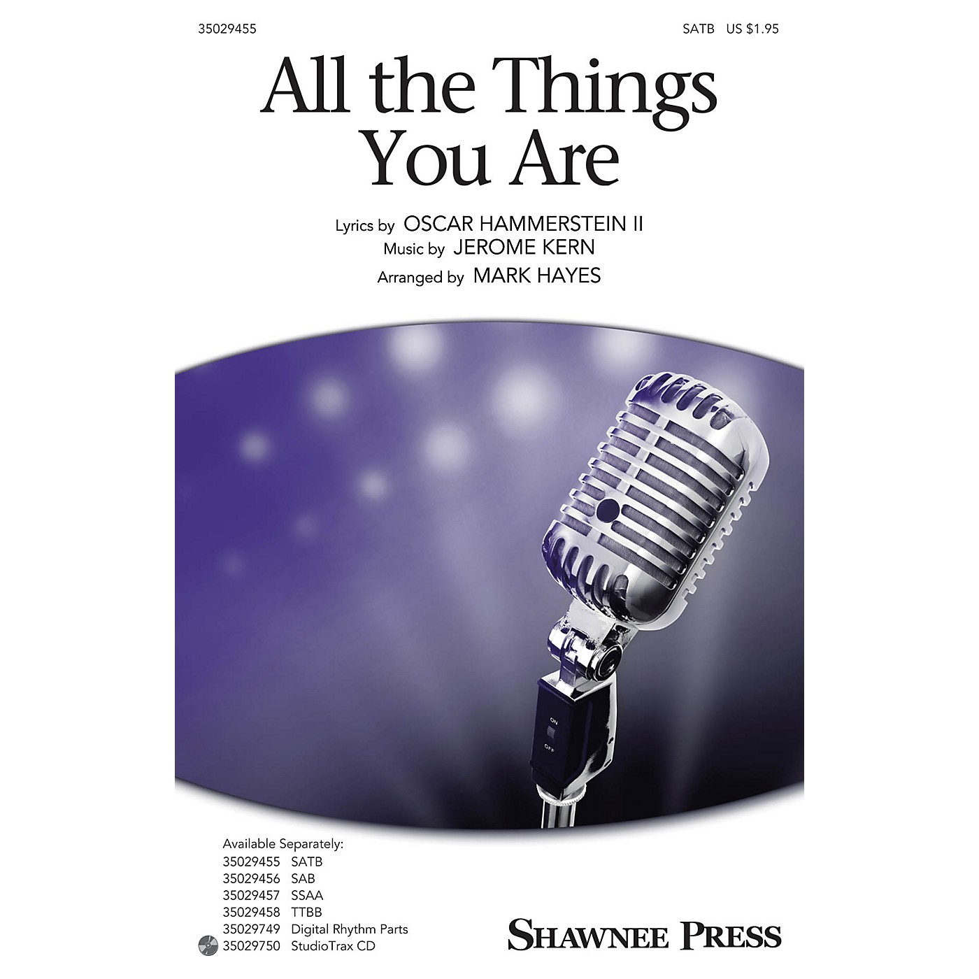Shawnee Press All the Things You Are TTBB Arranged by Mark Hayes thumbnail
