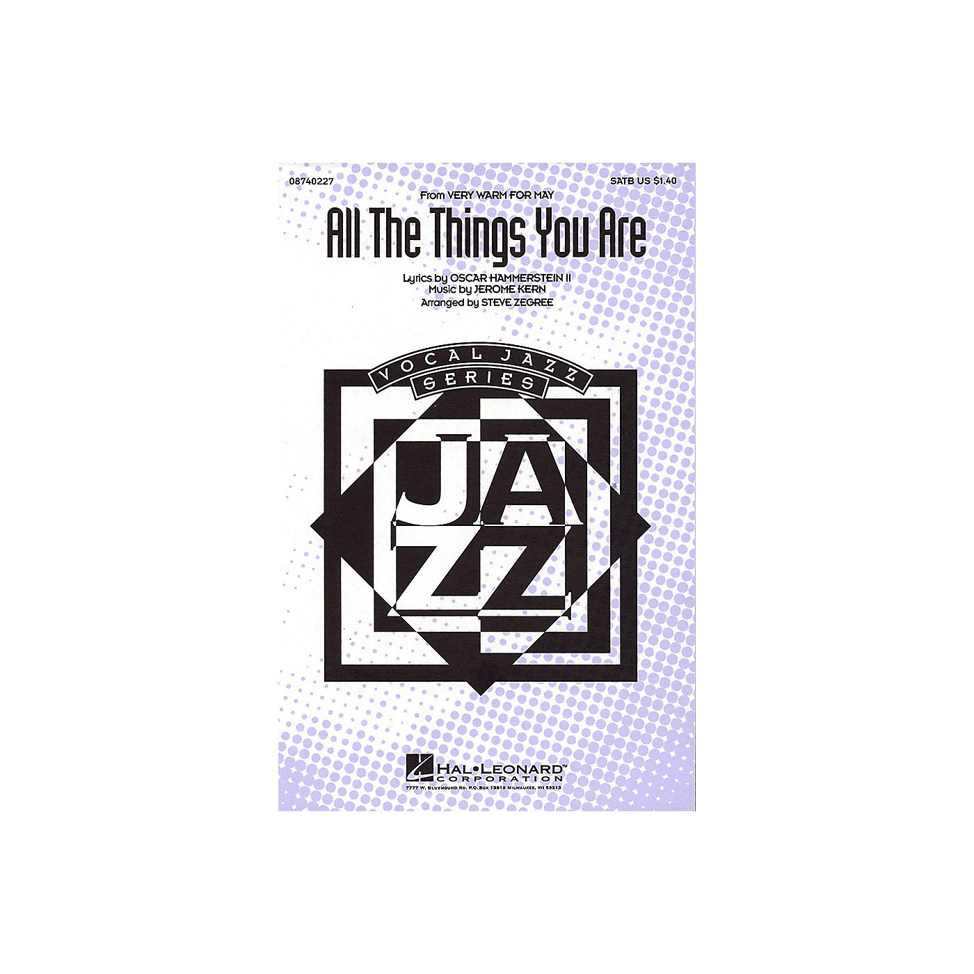 Hal Leonard All the Things You Are (from Very Warm for May) SATB arranged by Steve Zegree thumbnail