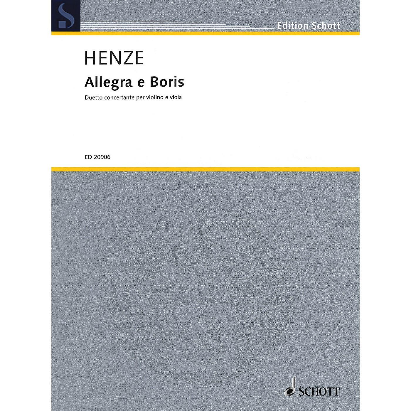 Schott Music Allegra e Boris Schott Series Composed by Hans Werner Henze thumbnail