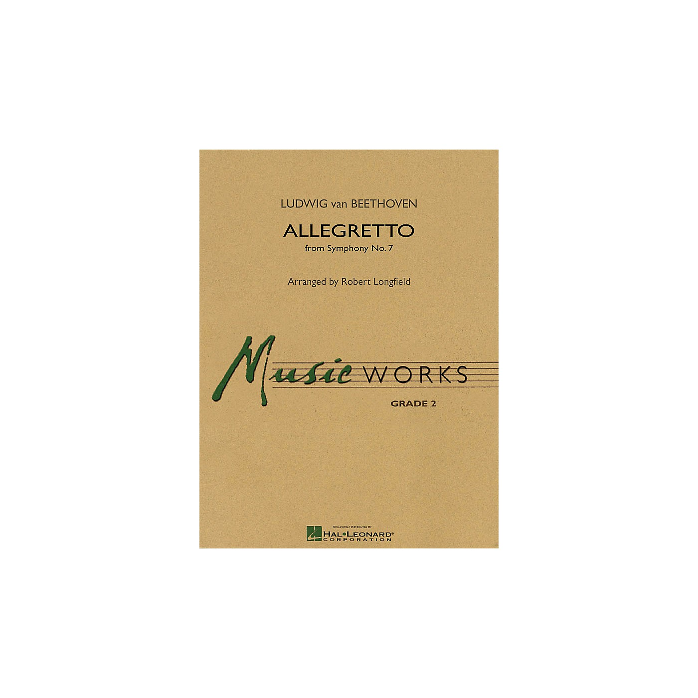 Hal Leonard Allegretto (from Symphony No. 7) Concert Band Level 2-2 1/2 Composed by Beethoven Arranged by Longfield thumbnail