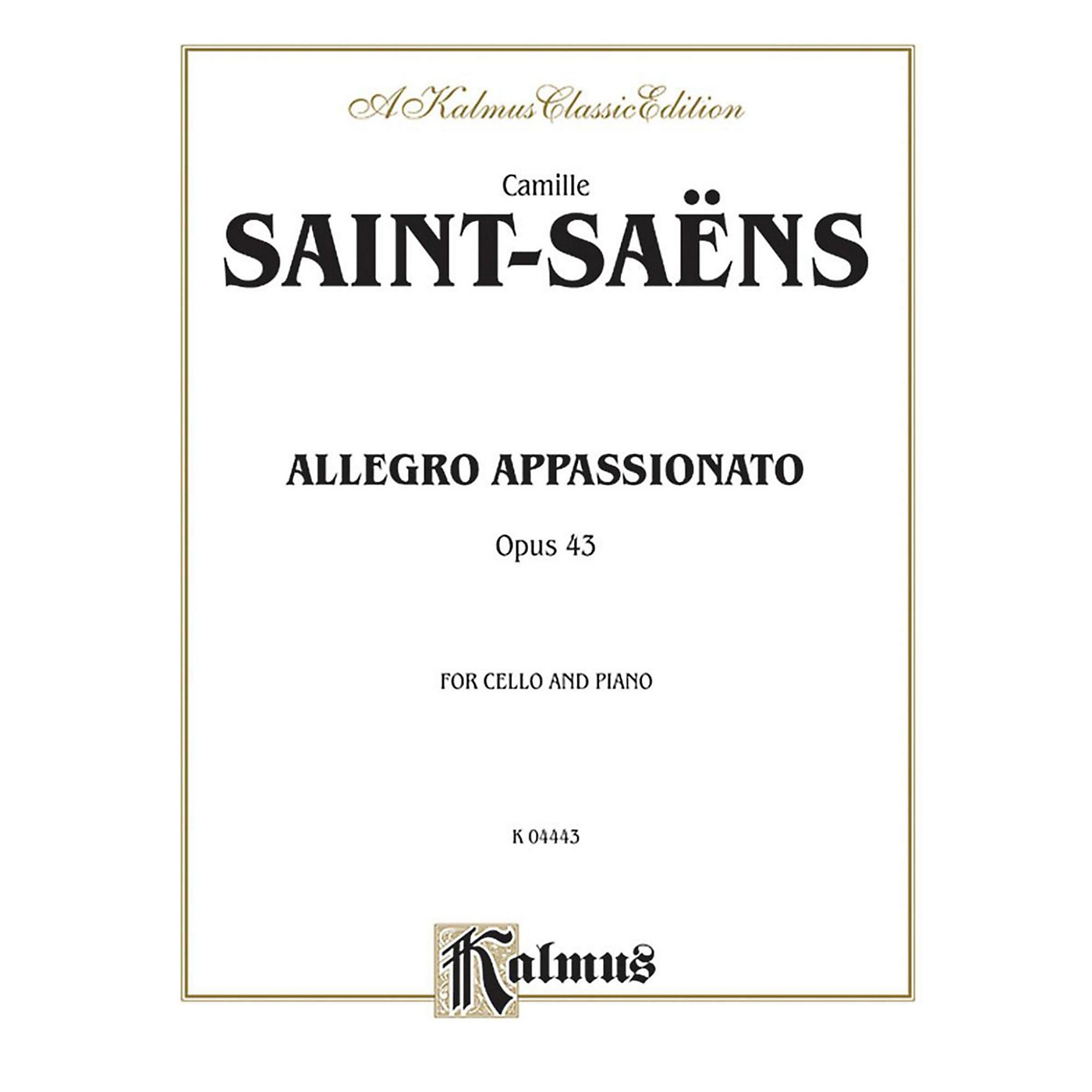 Alfred Allegro Appassionato Op. 43 for Cello By Camille Saint-Sa«ns Book thumbnail