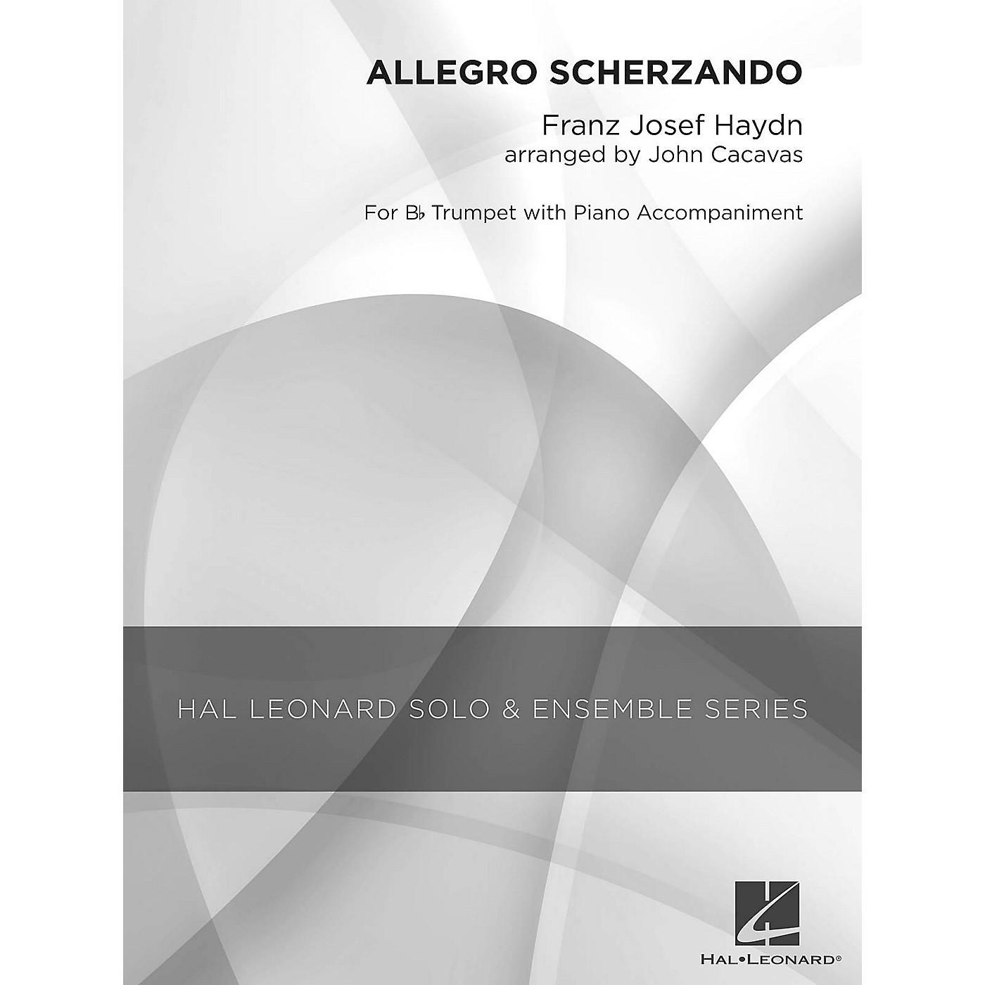 Hal Leonard Allegro Scherzando (Grade 2.5 Trumpet Solo) Concert Band Level 2.5 Arranged by John Cacavas thumbnail