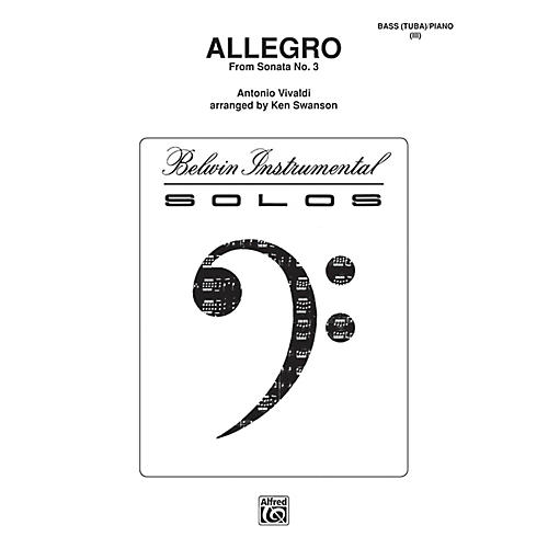 Alfred Allegro for Tuba By Antonio Vivaldi / arr. Kenneth Swanson Book thumbnail