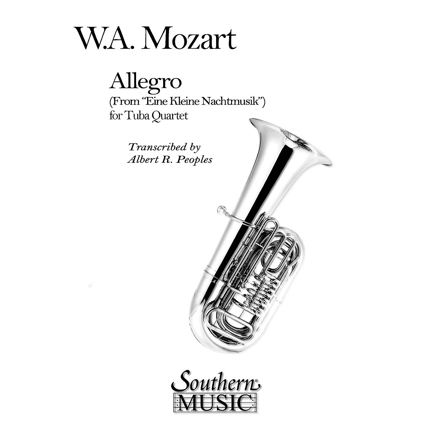 Southern Allegro (from Eine Kleine Nachtmusik) (2 Euphoniums/2 Tubas) Southern Music Series Arranged by Al Peoples thumbnail