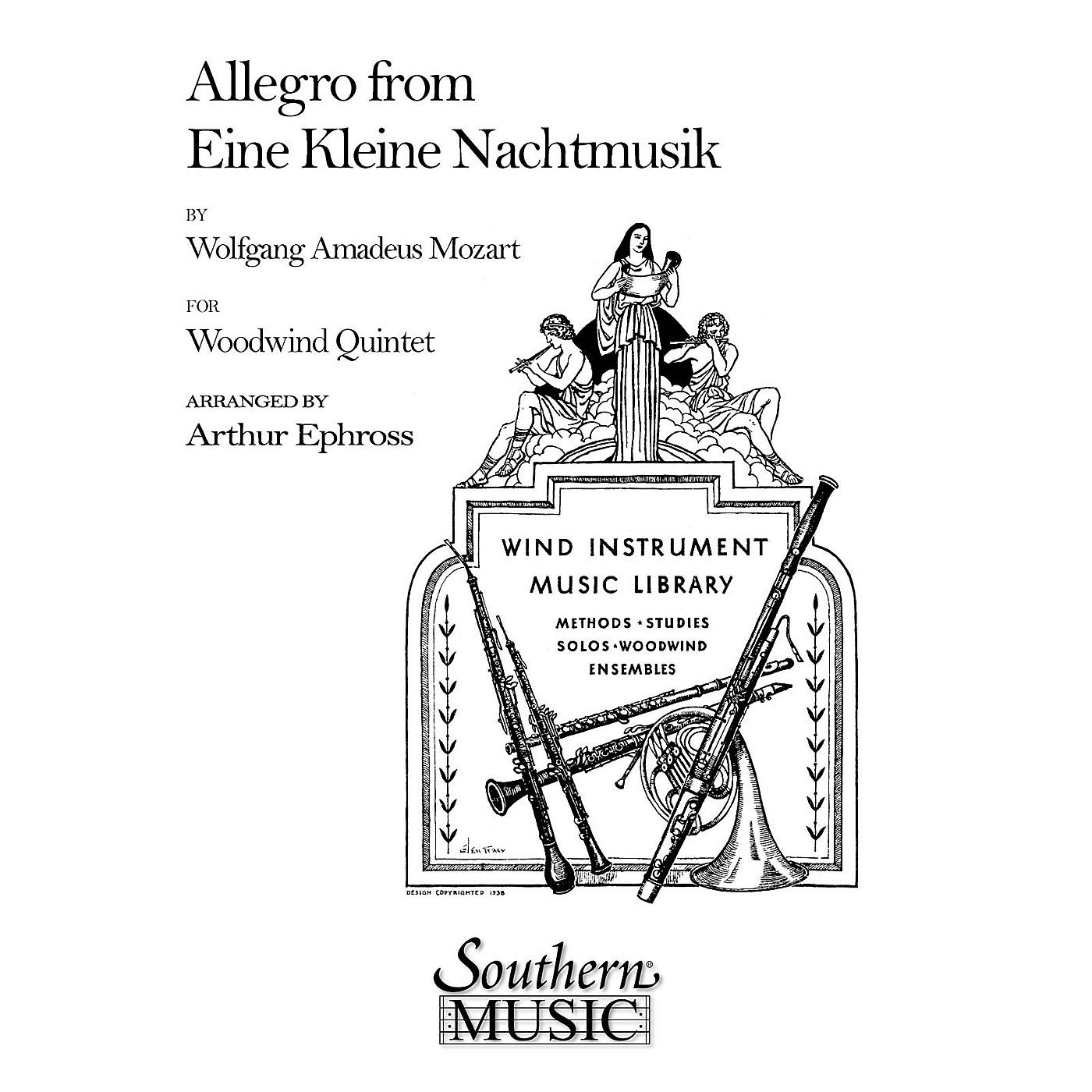 Southern Allegro (from Eine Kleine Nachtmusik) (Woodwind Quintet) Southern Music Series Arranged by Arthur Ephross thumbnail